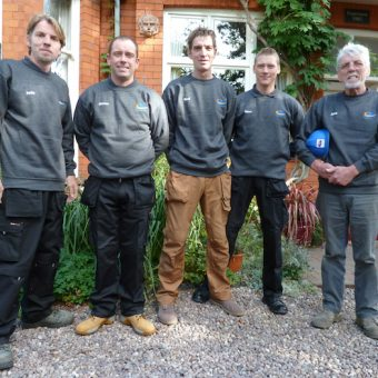 JMS Wood Burning Stove installation team