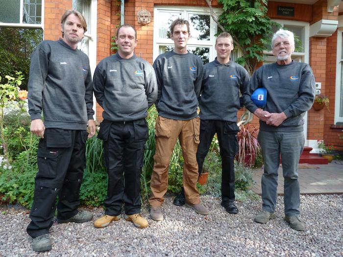 JMS Wood Burning Stove installation team